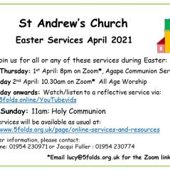 Holy Week services from St Andrew's, Swavesey