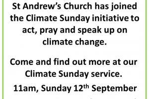 Climate Sunday 12 September