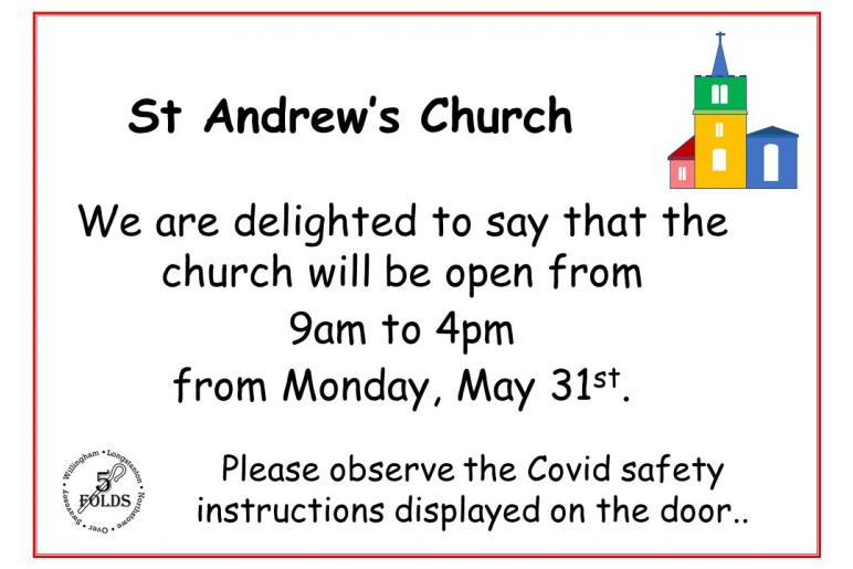 Swavesey church reopens daily
